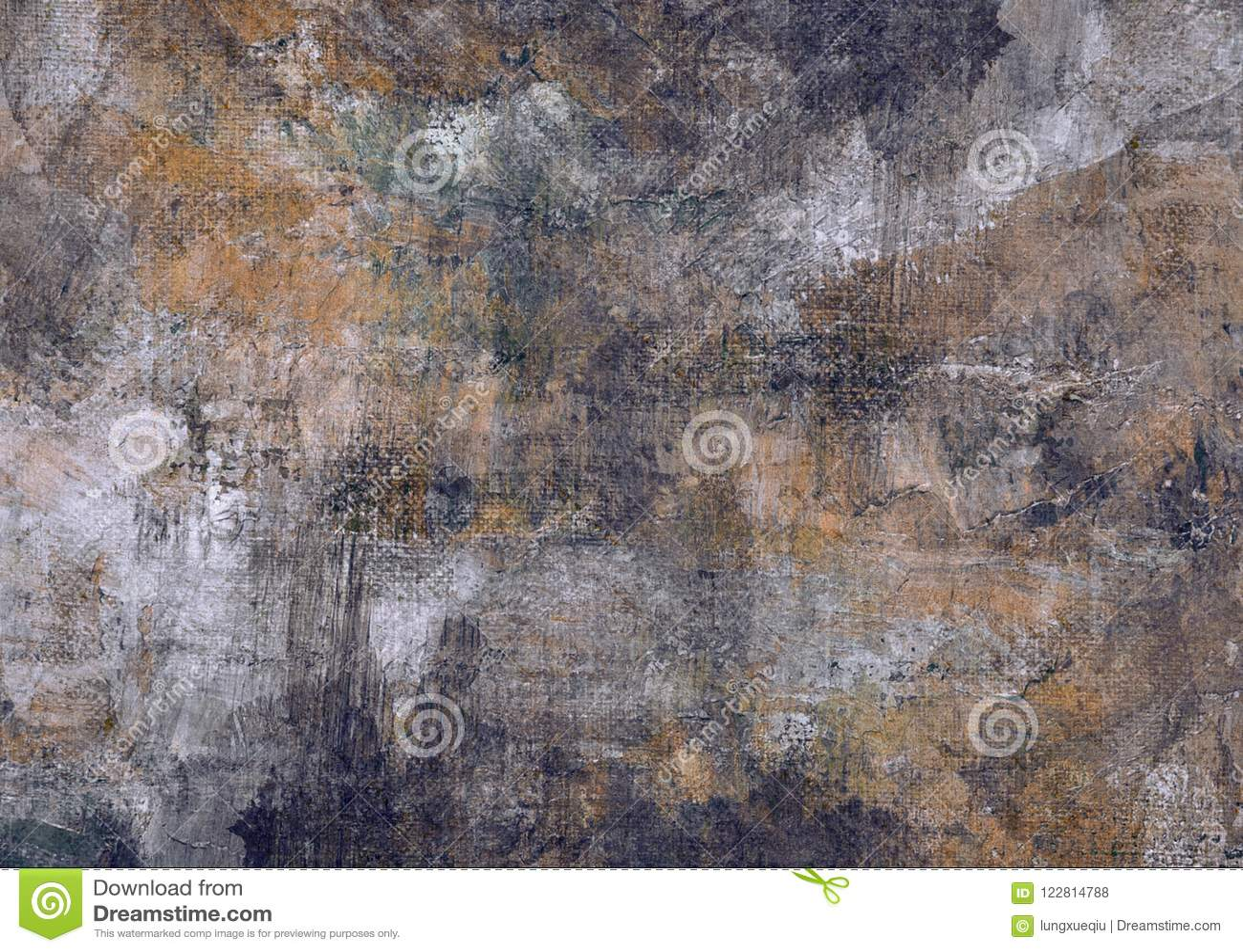 Zmroku Brown czerni kamieni obrazu Popielatego Brezentowego Abstrakcjonistycznego Grunge Ośniedziała Zniekształcająca Rozpadowa S