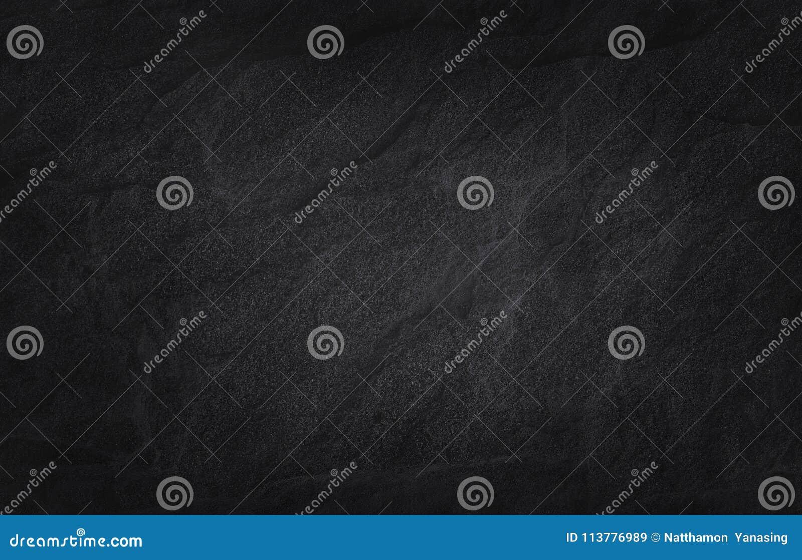 Zmroku czerni łupku popielata tekstura w naturalnym wzorze czarna kamienna ściana