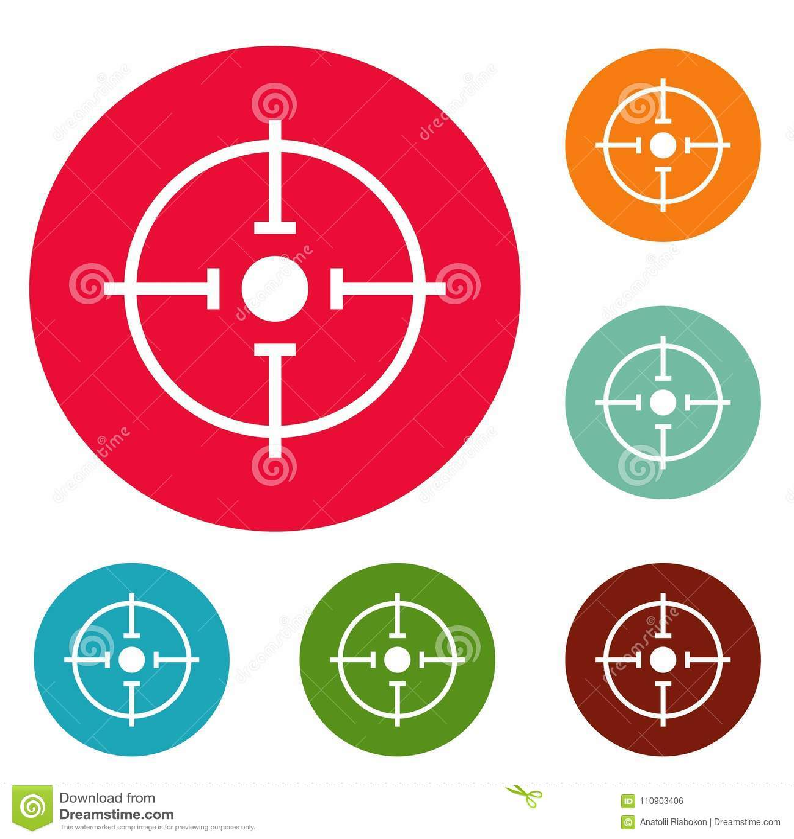 Znacząco cel ikon okręgu ustalony wektor