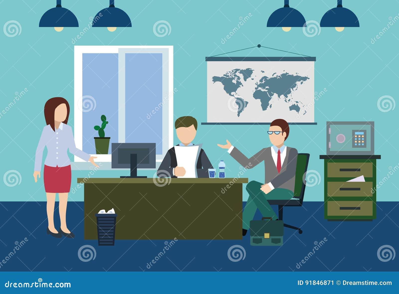 Znacząco dyskusja szef w biurze