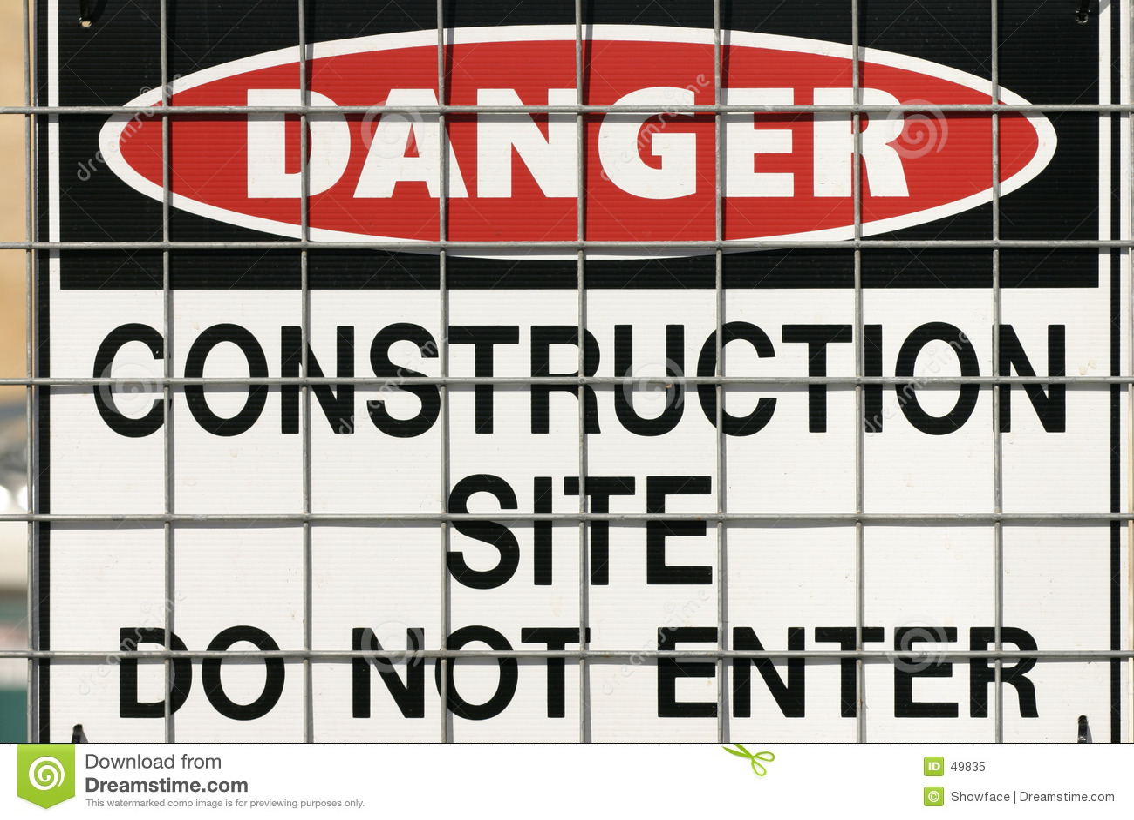 Znak budowy ostrzeżenie