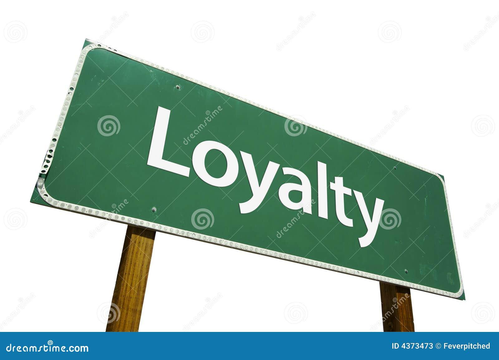 Znak drogowy lojalności