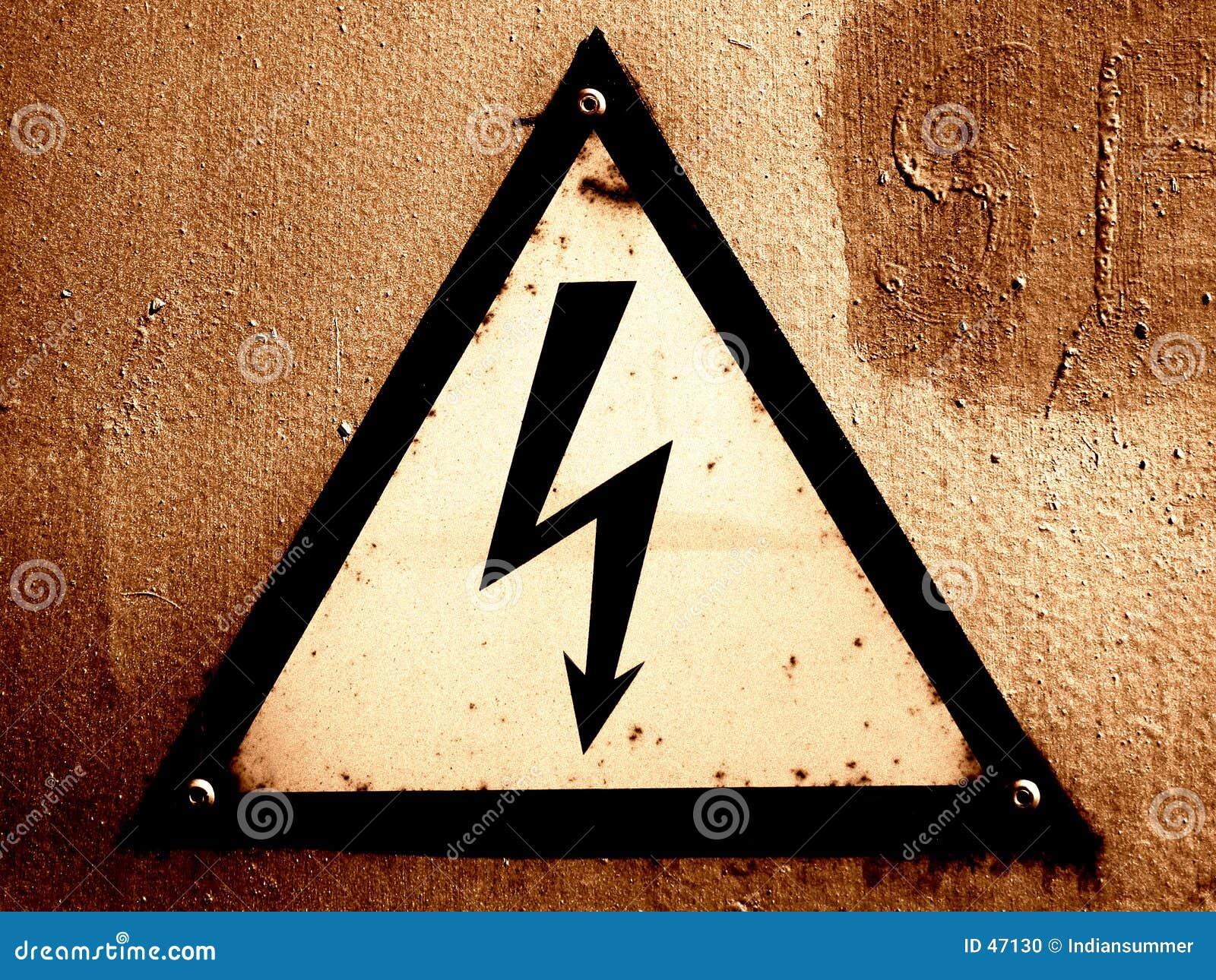 Znak grungy ostrzeżenie