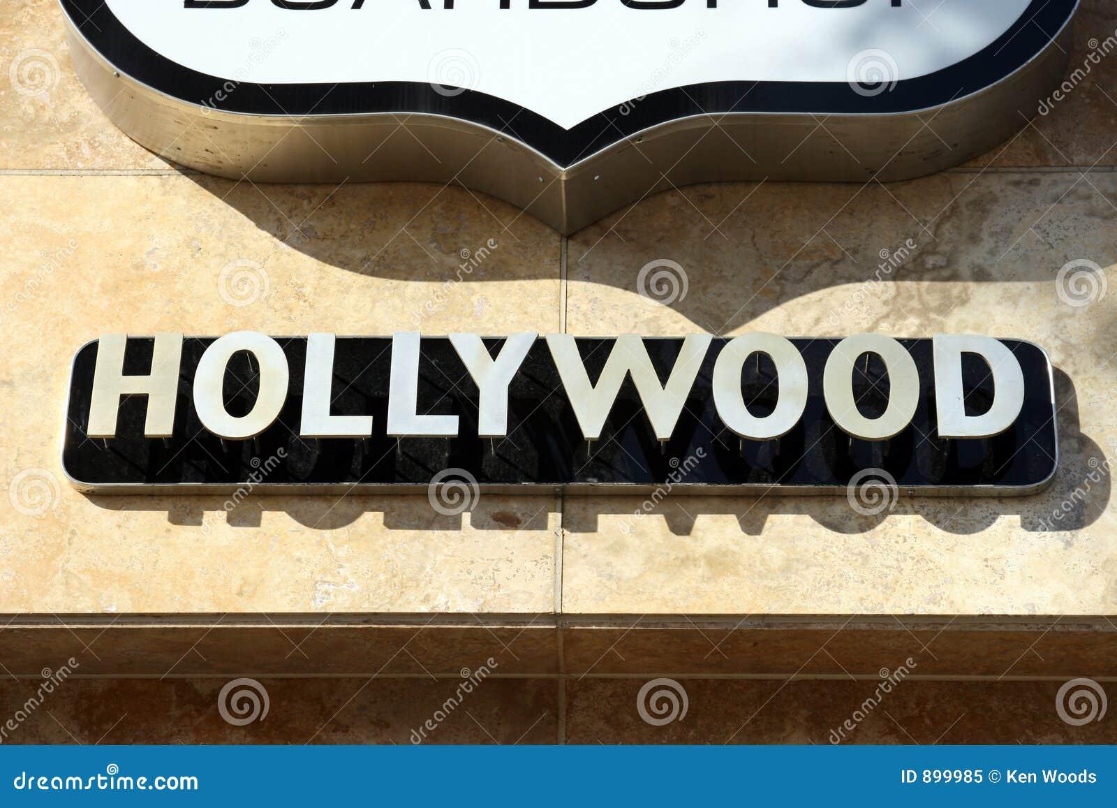 Znak Hollywood budynku.