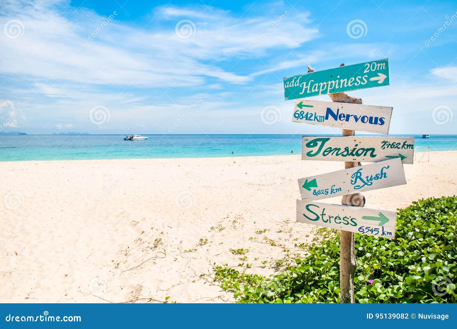 Znak na plaży