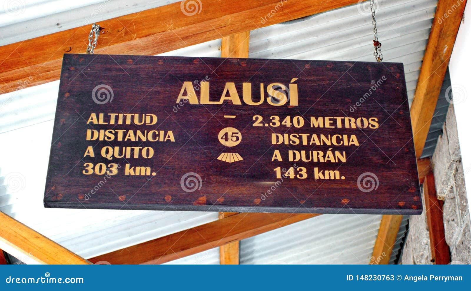 Znak na taborowej platformie