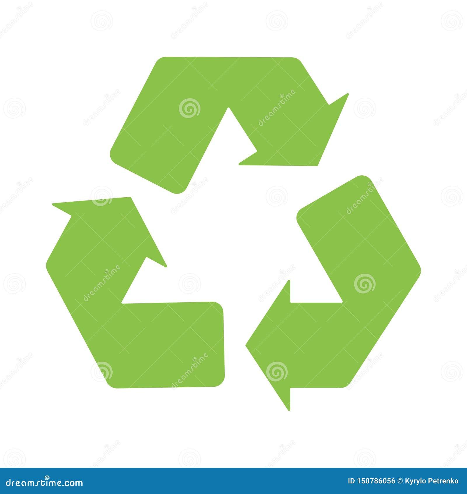 Znak przetwarza logo ikony zieleni bielu tło