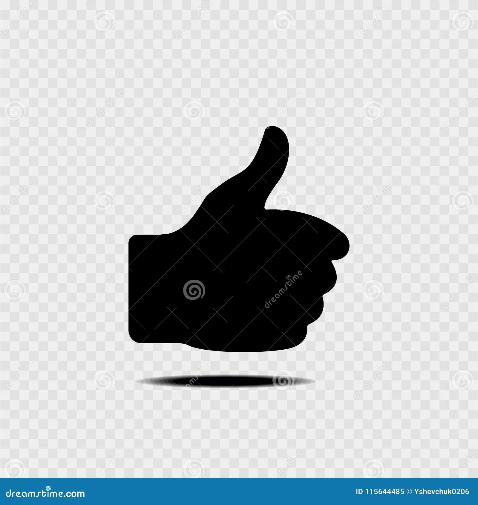 Znak tło odizolowane kciuk w górę białych Szary tło również zwrócić corel ilustracji wektora