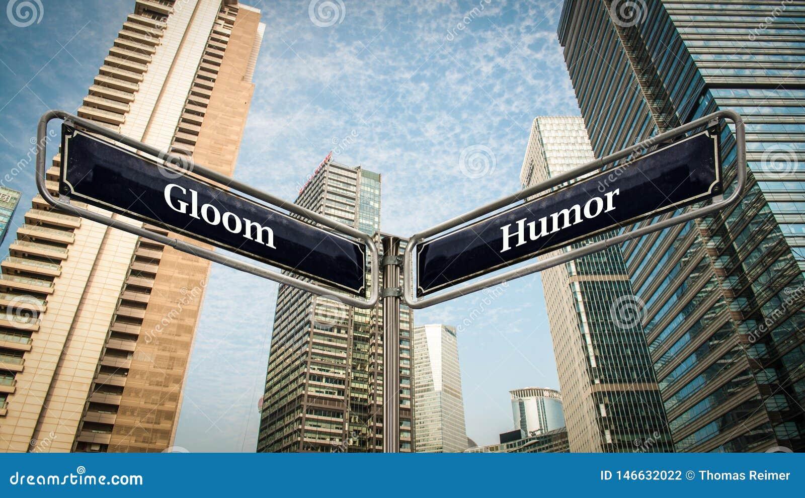 Znak Uliczny humor versus ponurość