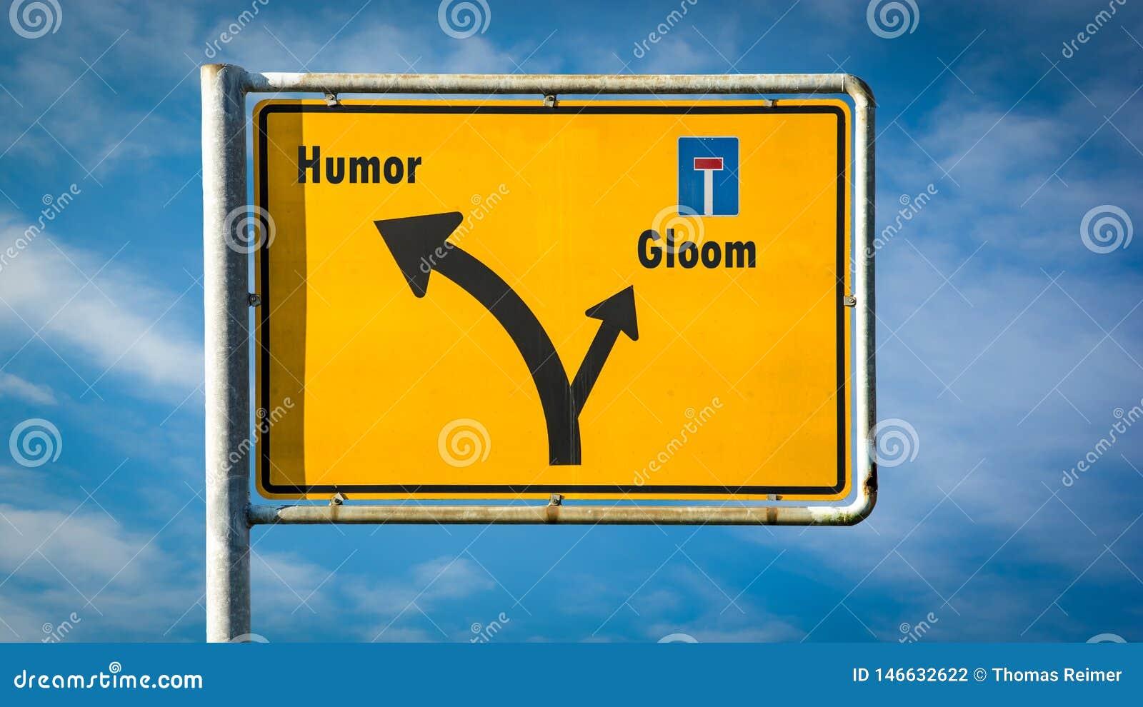 Znak Uliczny humor versus ponuro??