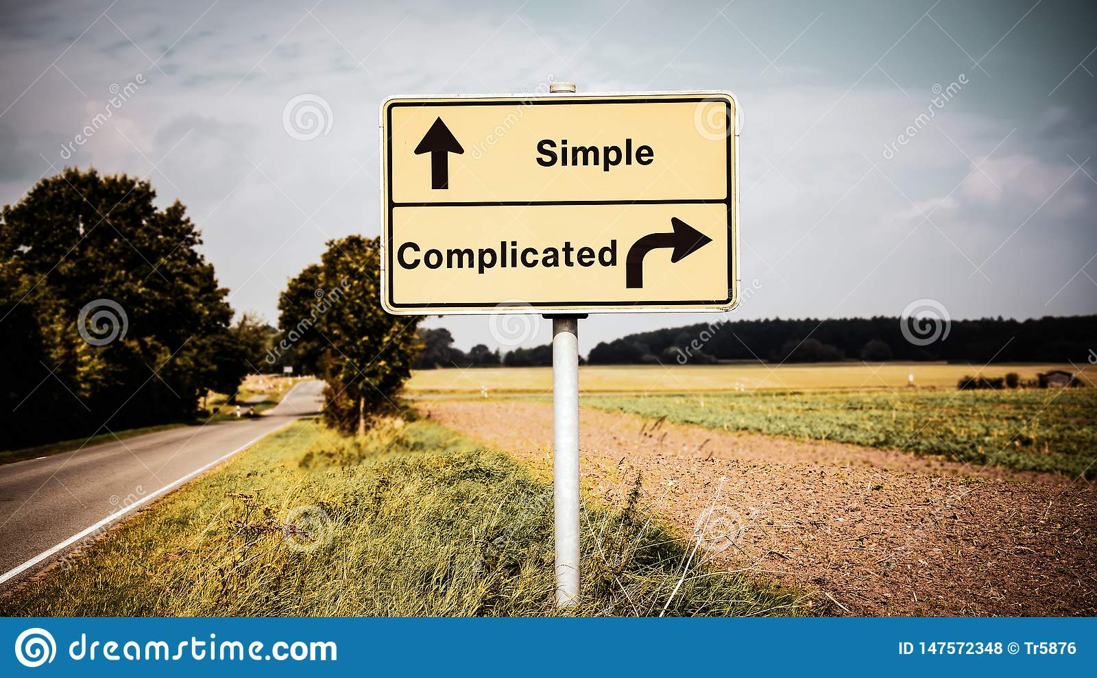 Znak Uliczny Prosty versus Skomplikowany