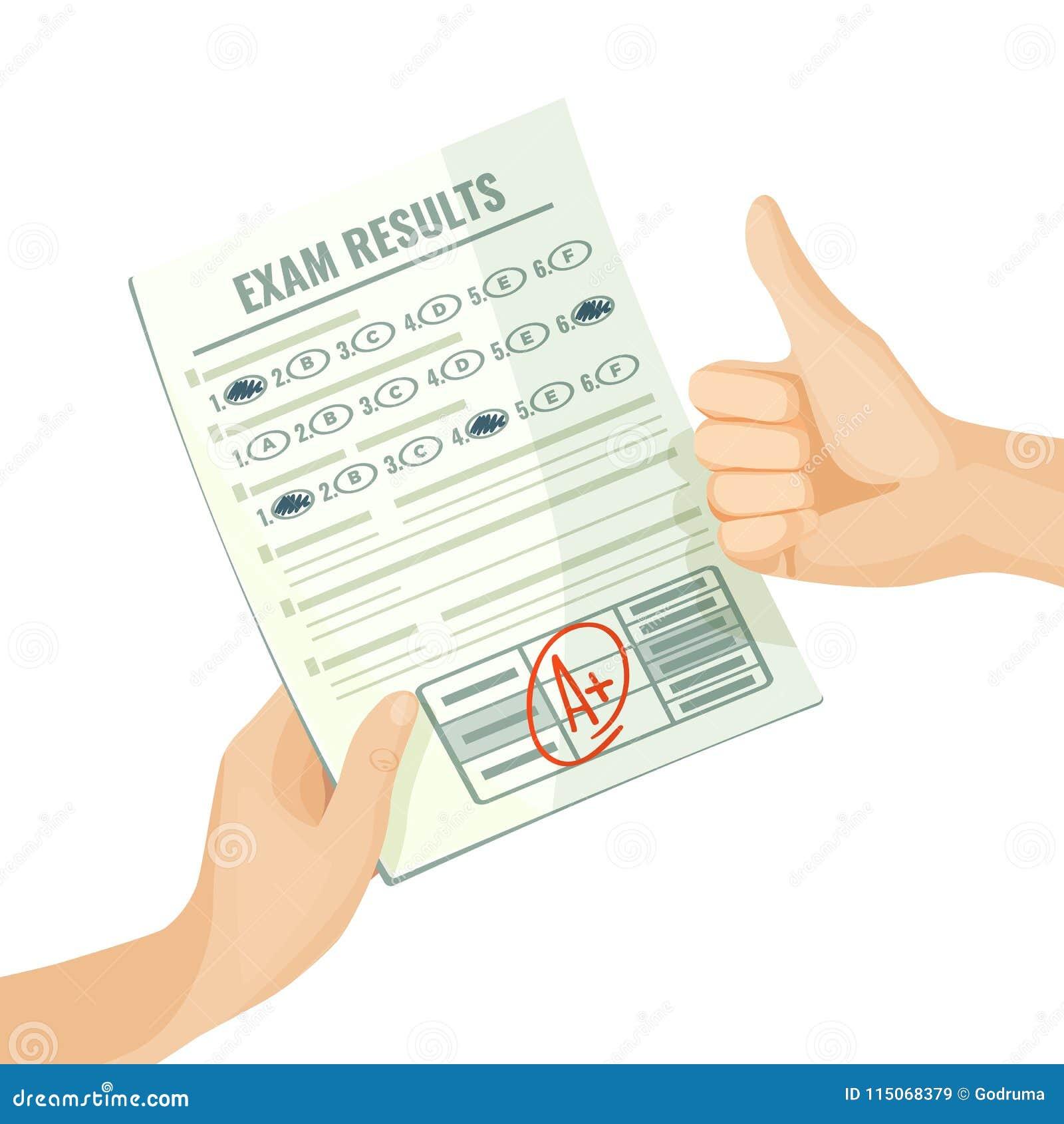 Znakomity egzamin wynika na papierze w ludzkich rękach