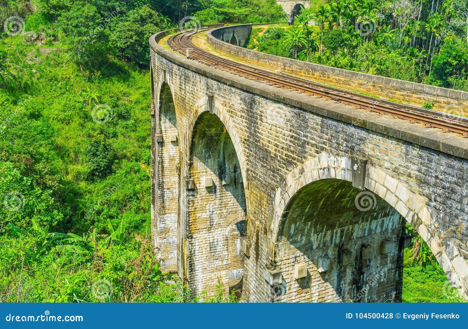 Znakomity most w Sri Lanka