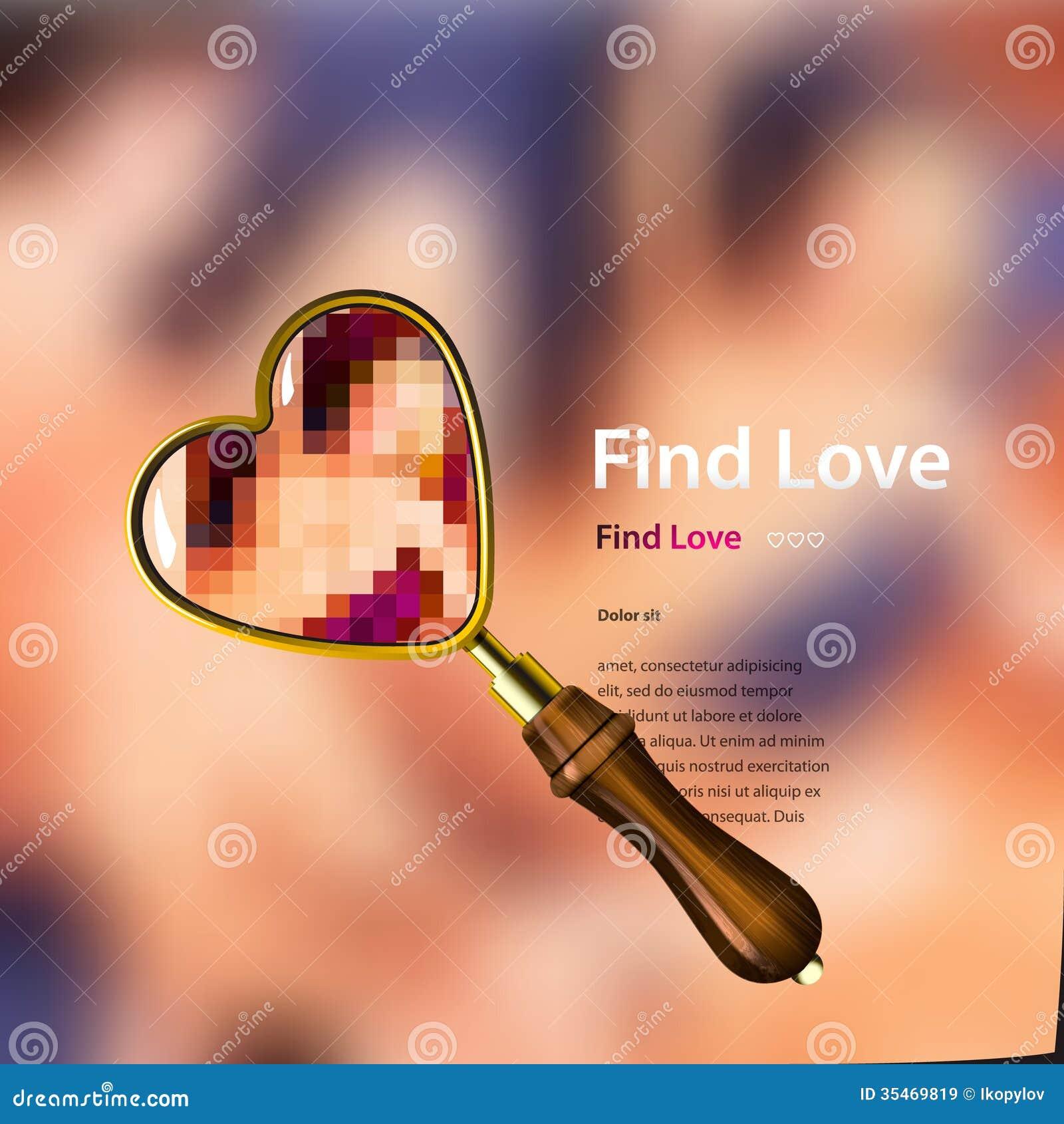 Znalezisko miłość, wektorowa ilustracja.