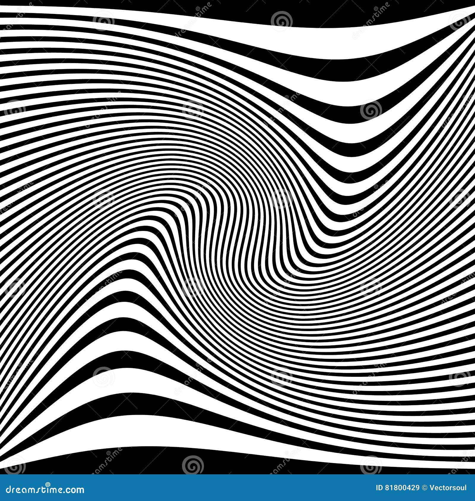 Zniekształcający abstrakcjonistyczny monochromu wzór asymetryczny, nieregularny/