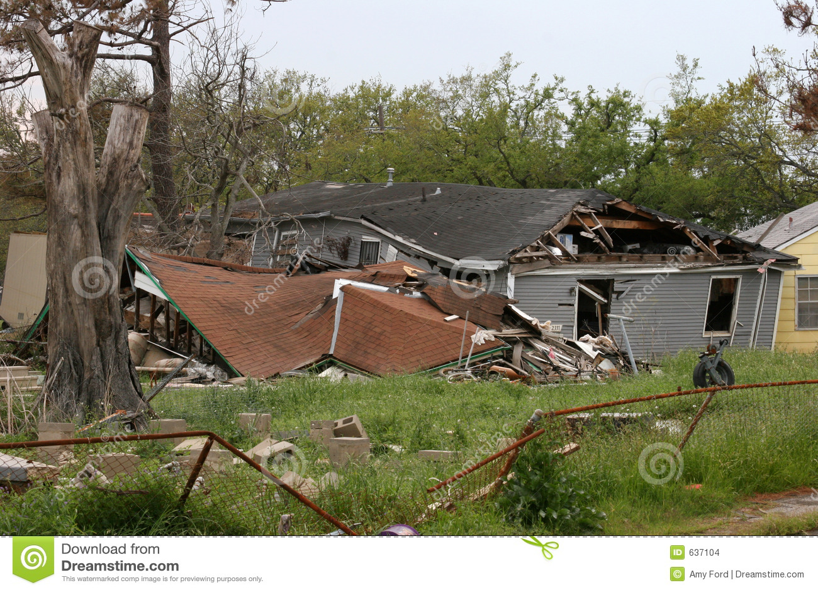 Zniszczenie huragan Katrina
