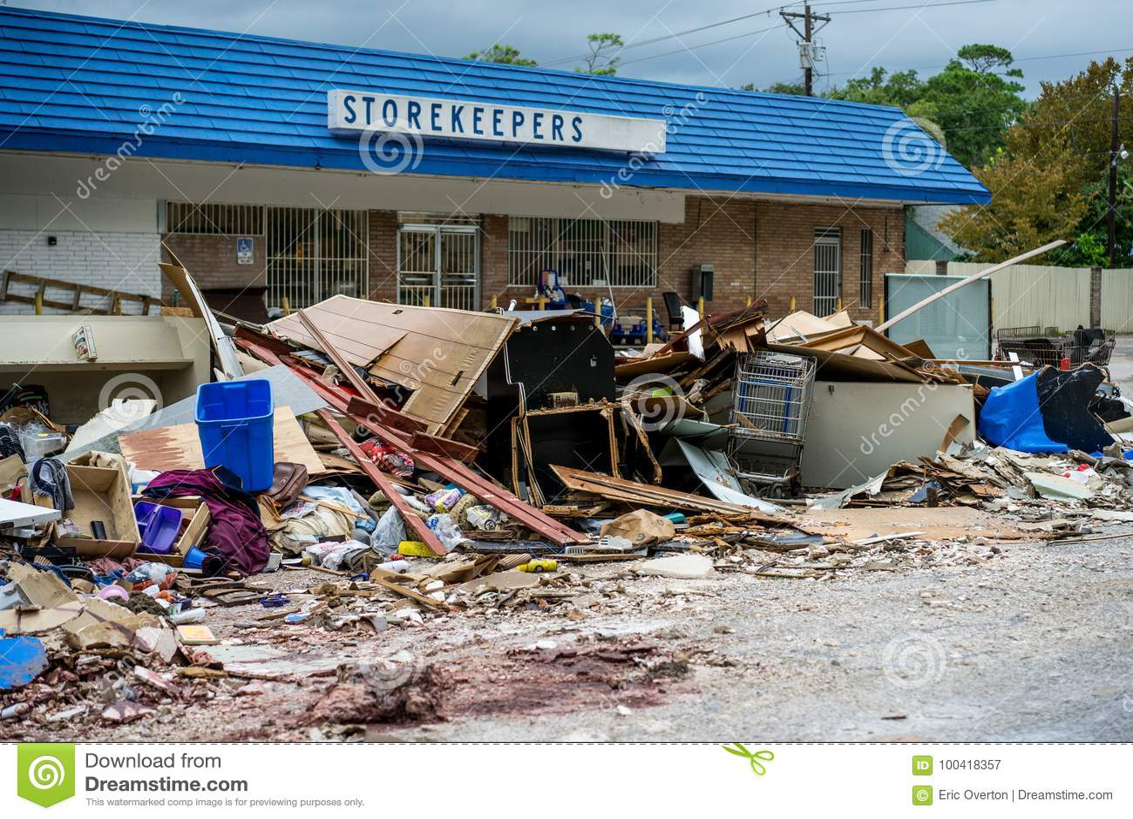 Zniszczenie Huraganowy Harvey