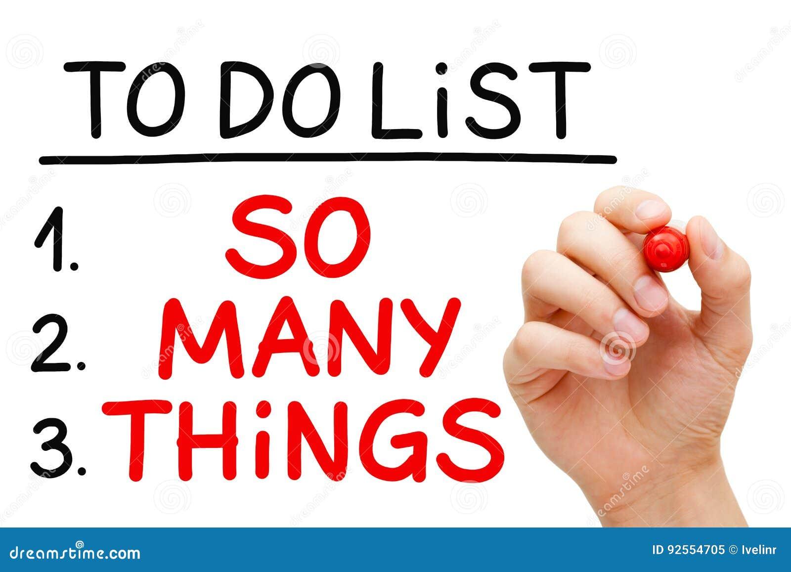 Zo Vele Dingen om Lijst te doen