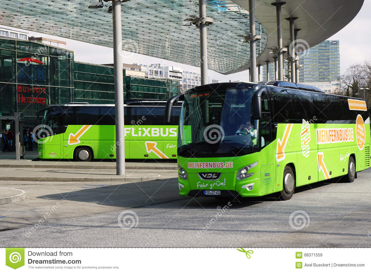 zob bus port hamburg is the central bus station for intercity long distance travel editorial. Black Bedroom Furniture Sets. Home Design Ideas