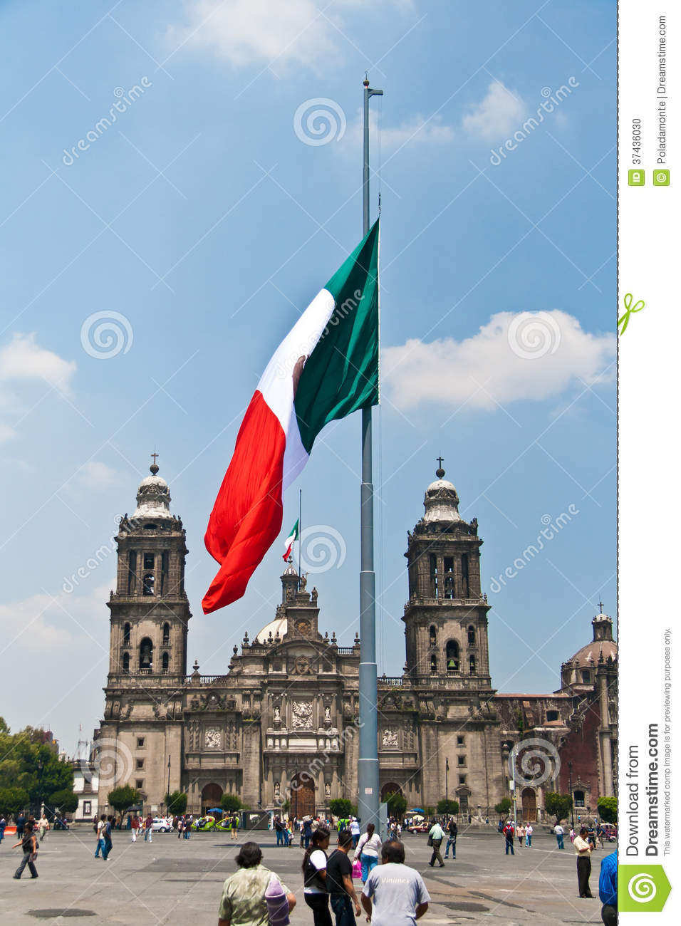 The Zocalo Flag, Mexico Editorial Image. Image Of City
