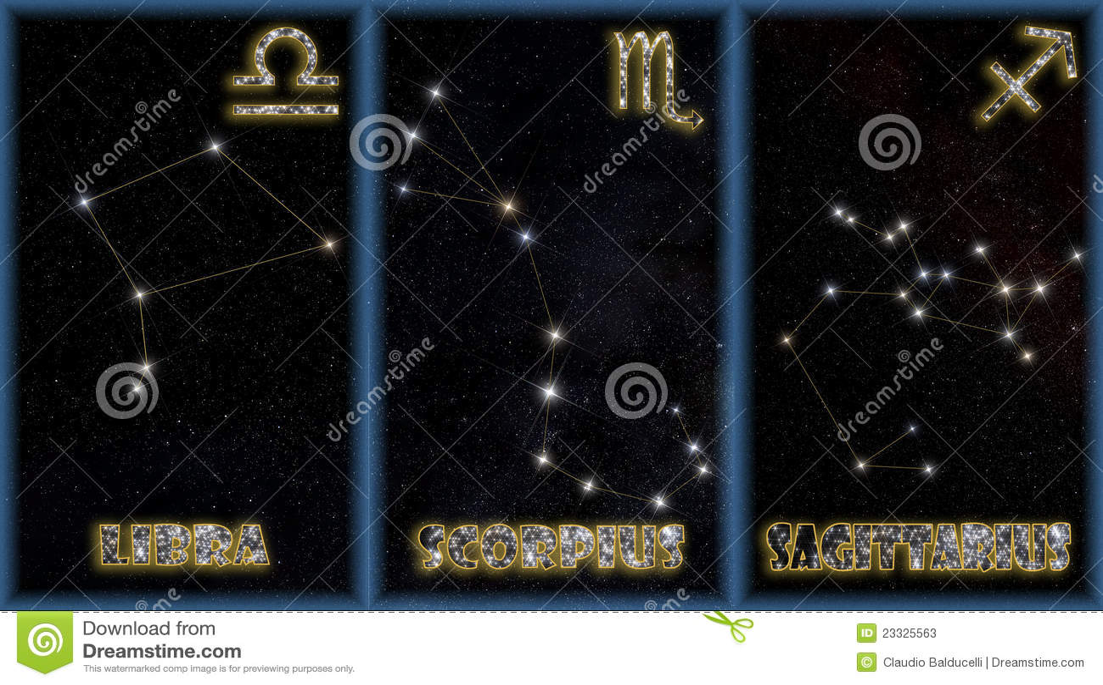 Zodiac σημαδιών φθινοπώρου