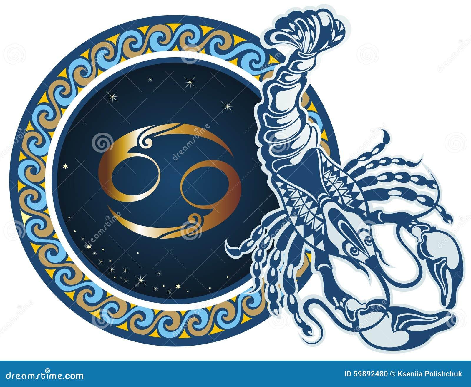 Zodiac σημαδιών καρκίνου