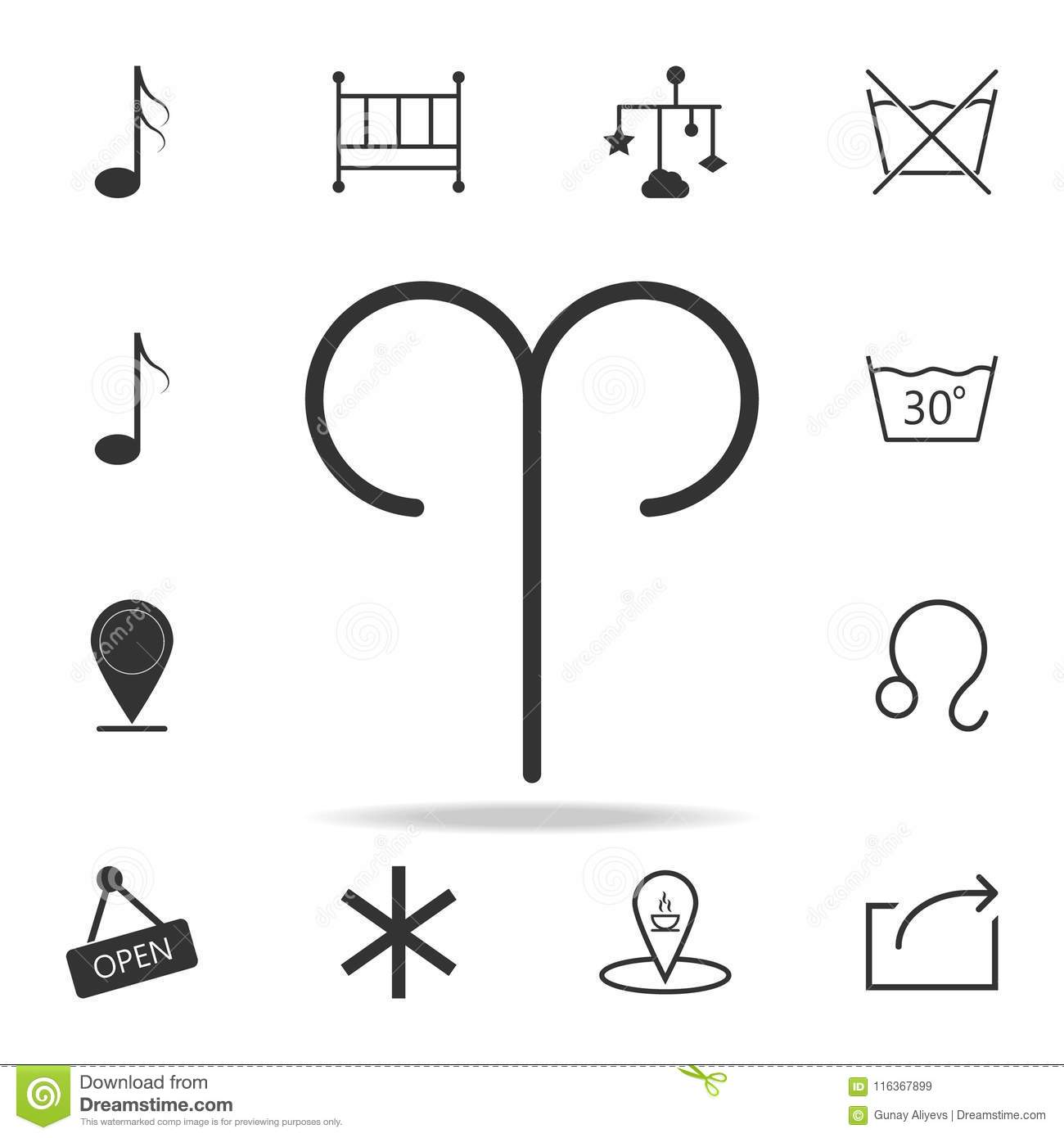 Zodiac Aries Sign Icon Detailed Set Of Web Icons And Signs Premium