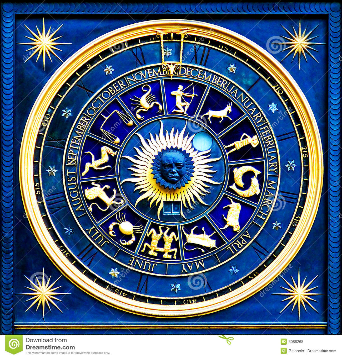Zodiac Blue Royalty Free Stock Photos - Image: 3086268