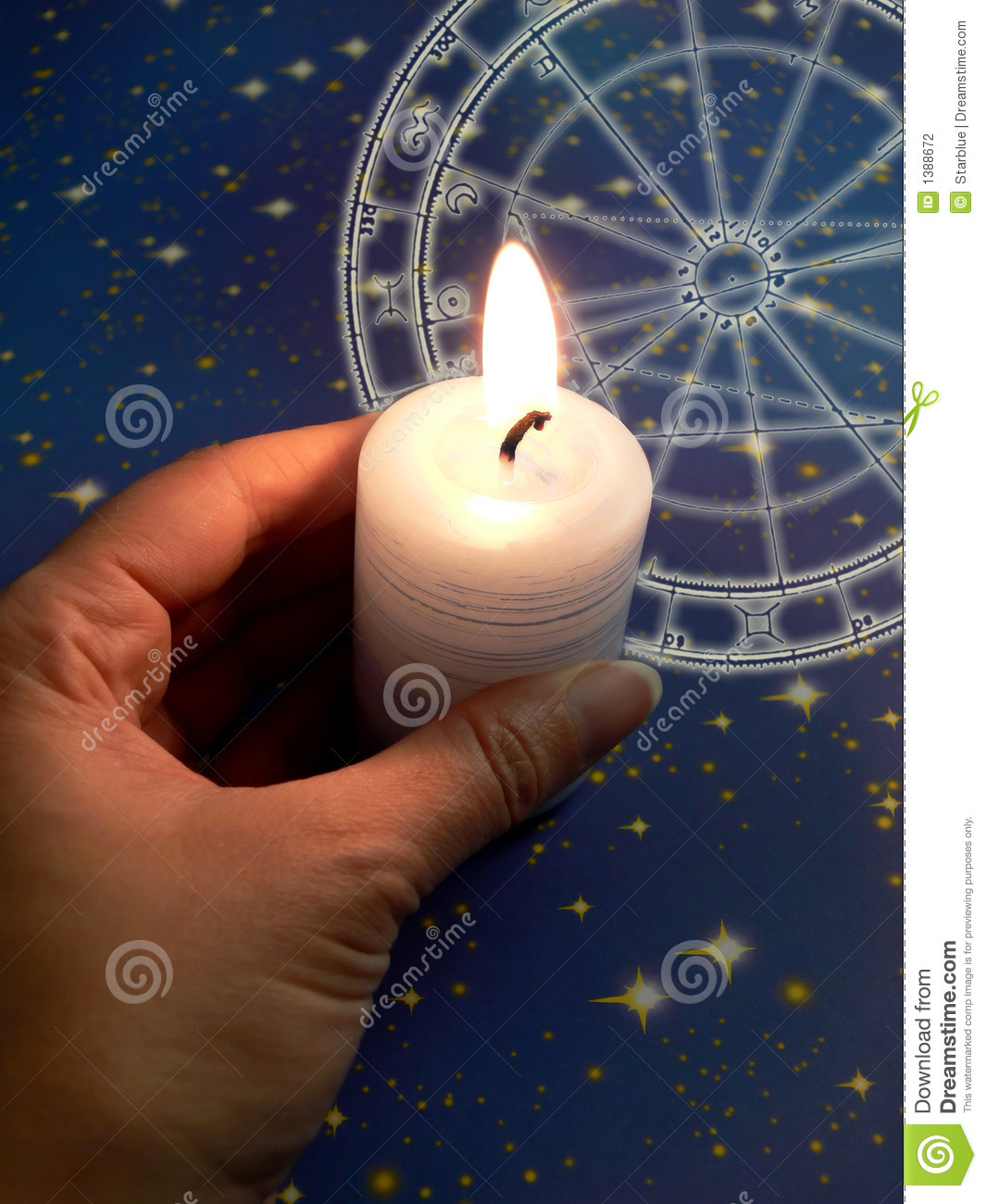 Zodiac in candle light