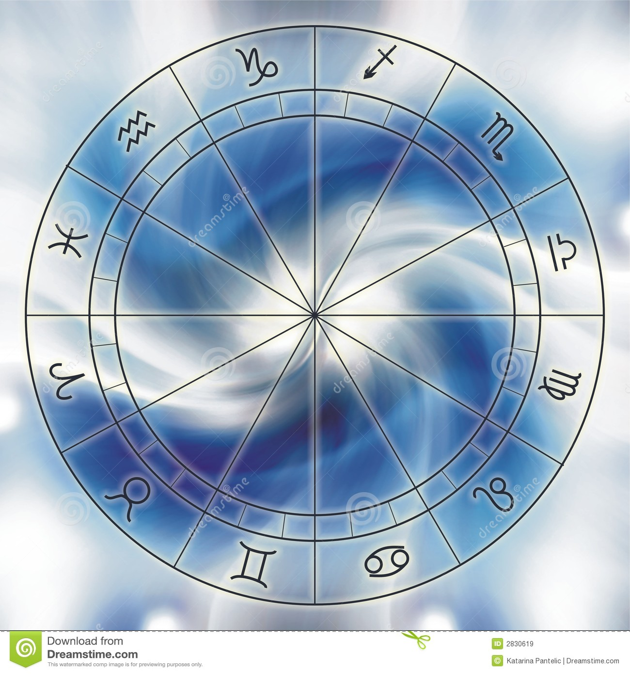 zodiac chart royalty free stock images image 2830619