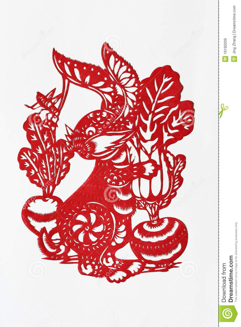 Zodiac Chinese Paper Cutting Rabbit Royalty Free Stock Images Image 16190209