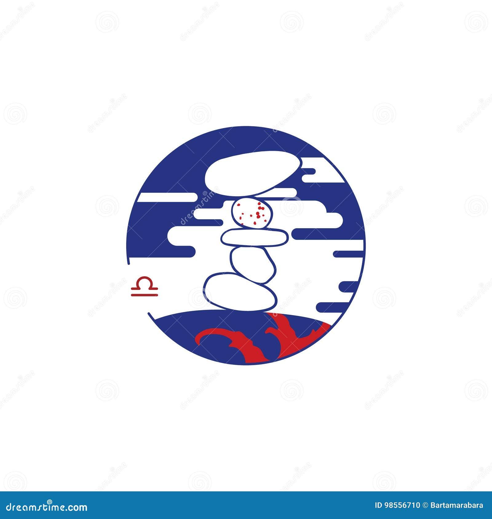 Zodiac Circle Symbol Libra Stock Vector Illustration Of Fortune
