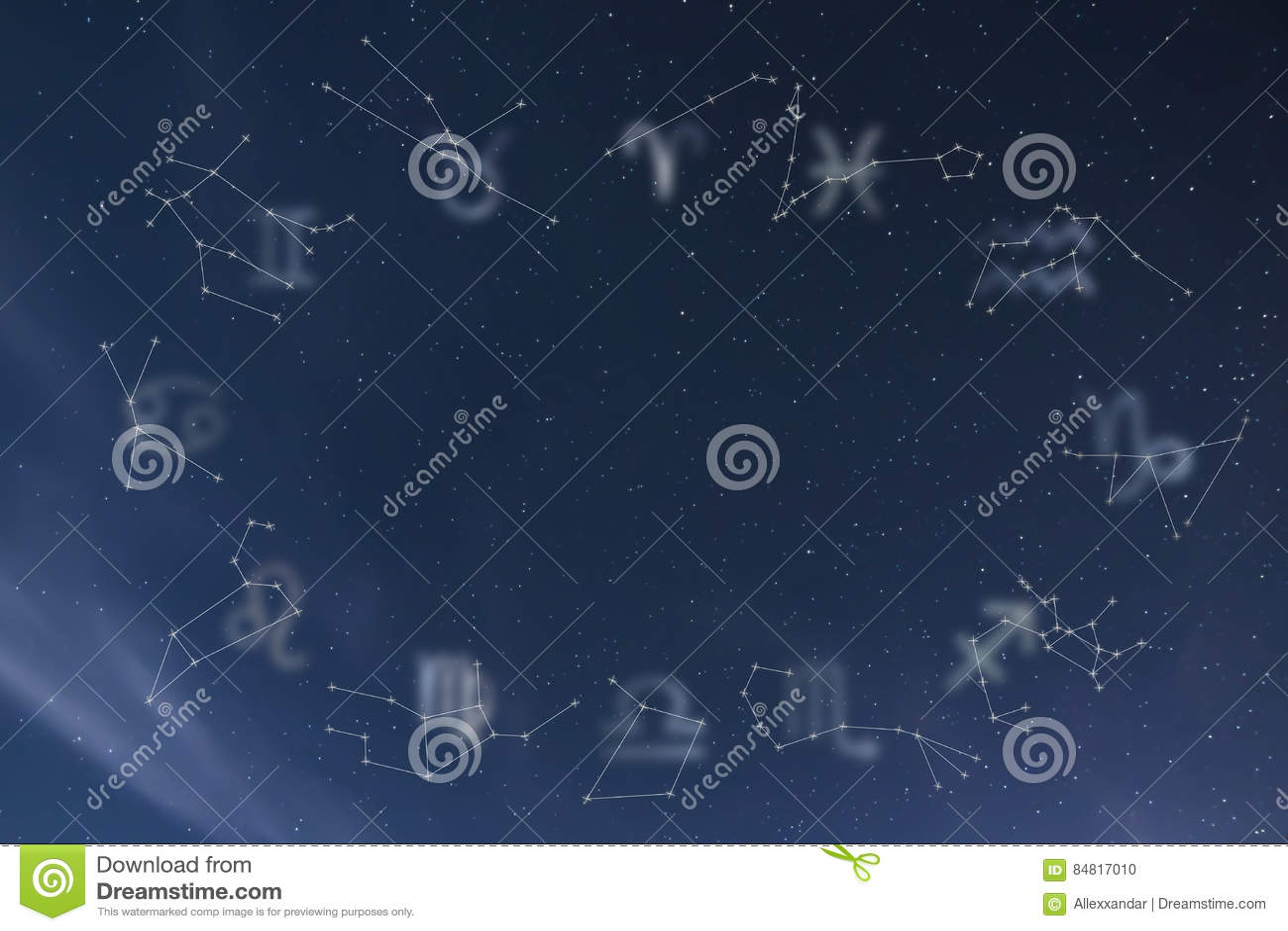 Zodiac constellations. Zodiac signs. Signs of zodiac.