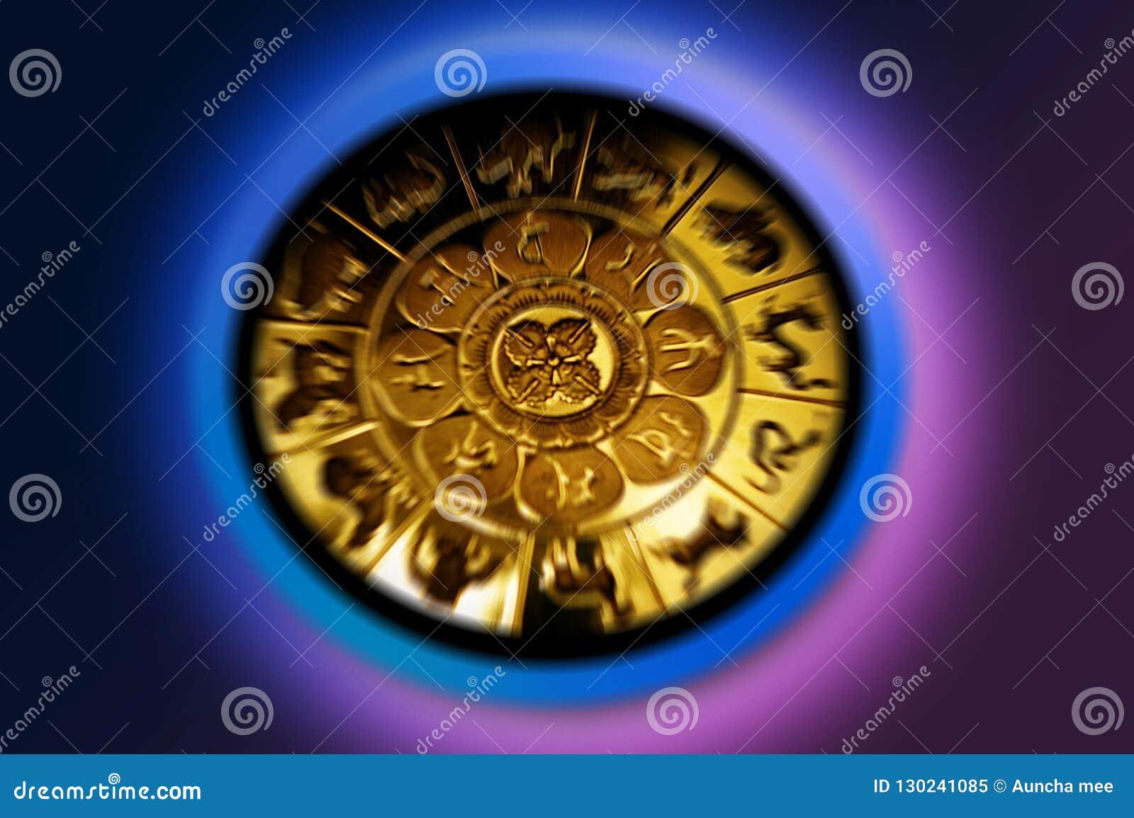 Zodiac för symboler tolv för illustrationsdesigntecken olik