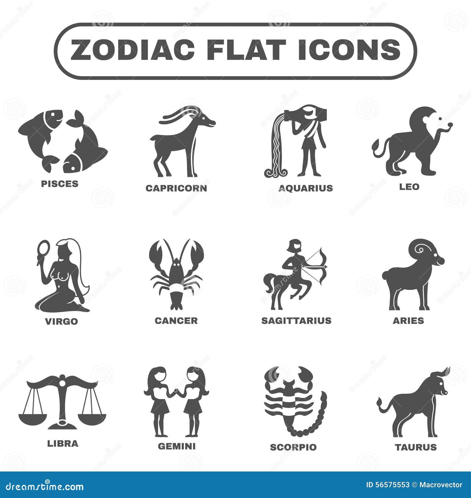 Zodiac icons set stock vector illustration of figure 56575553 zodiac icons set biocorpaavc Images