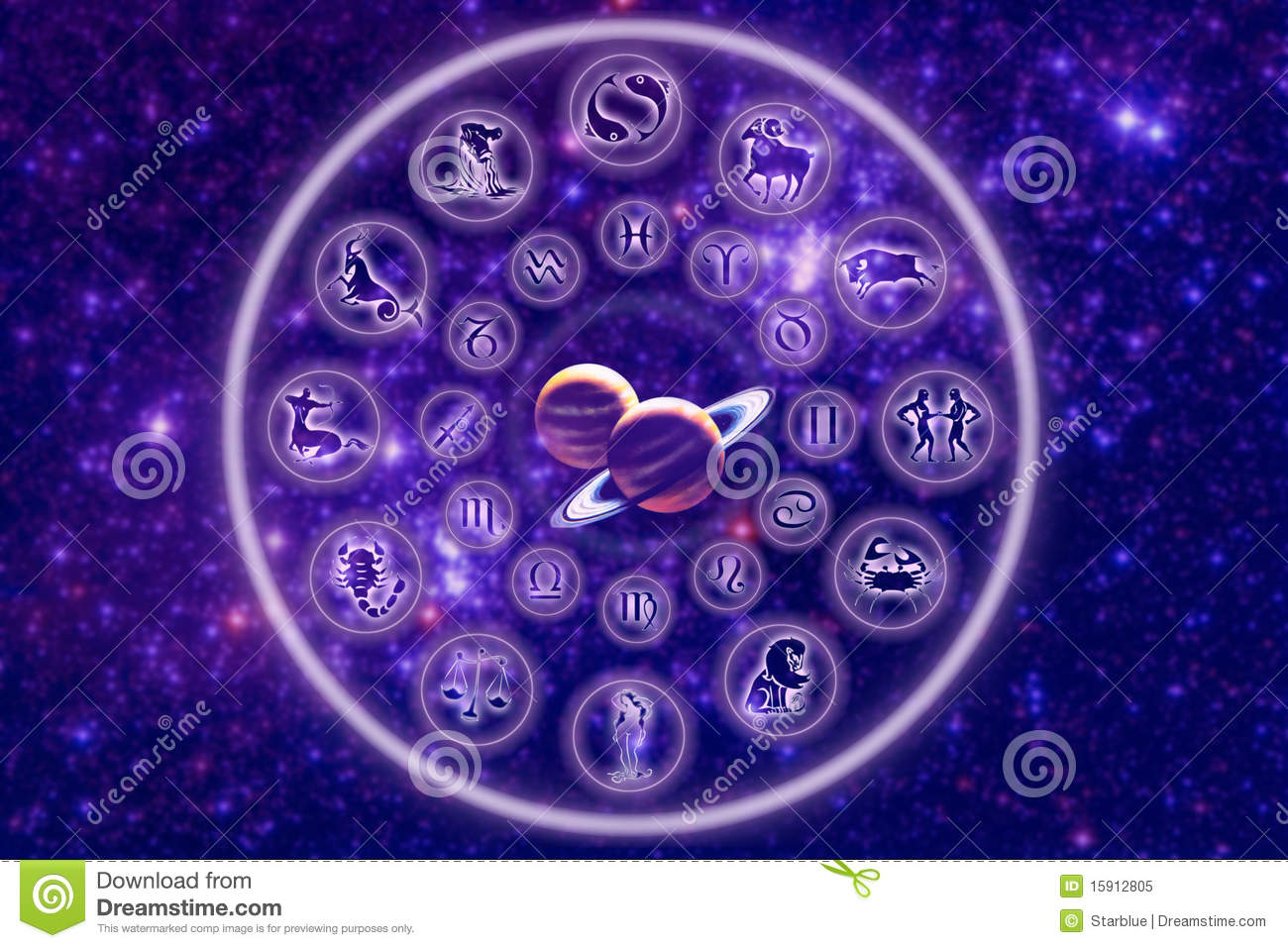 Zodiac With Planets Royalty Free Stock Photo - Image: 15912805