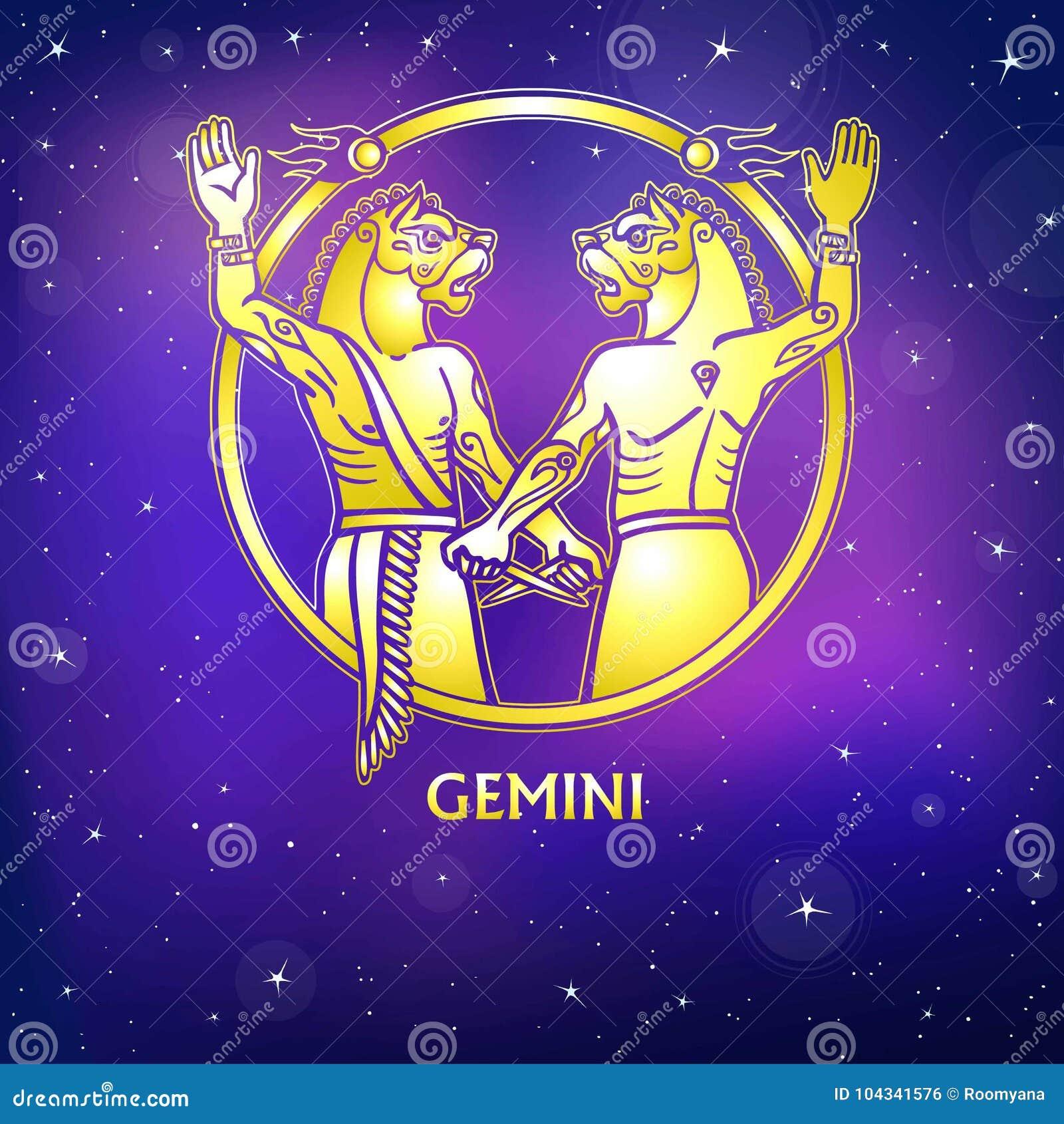 Zodiac sign gemini character of sumerian mythology gold zodiac sign gemini character of sumerian mythology gold imitation buycottarizona