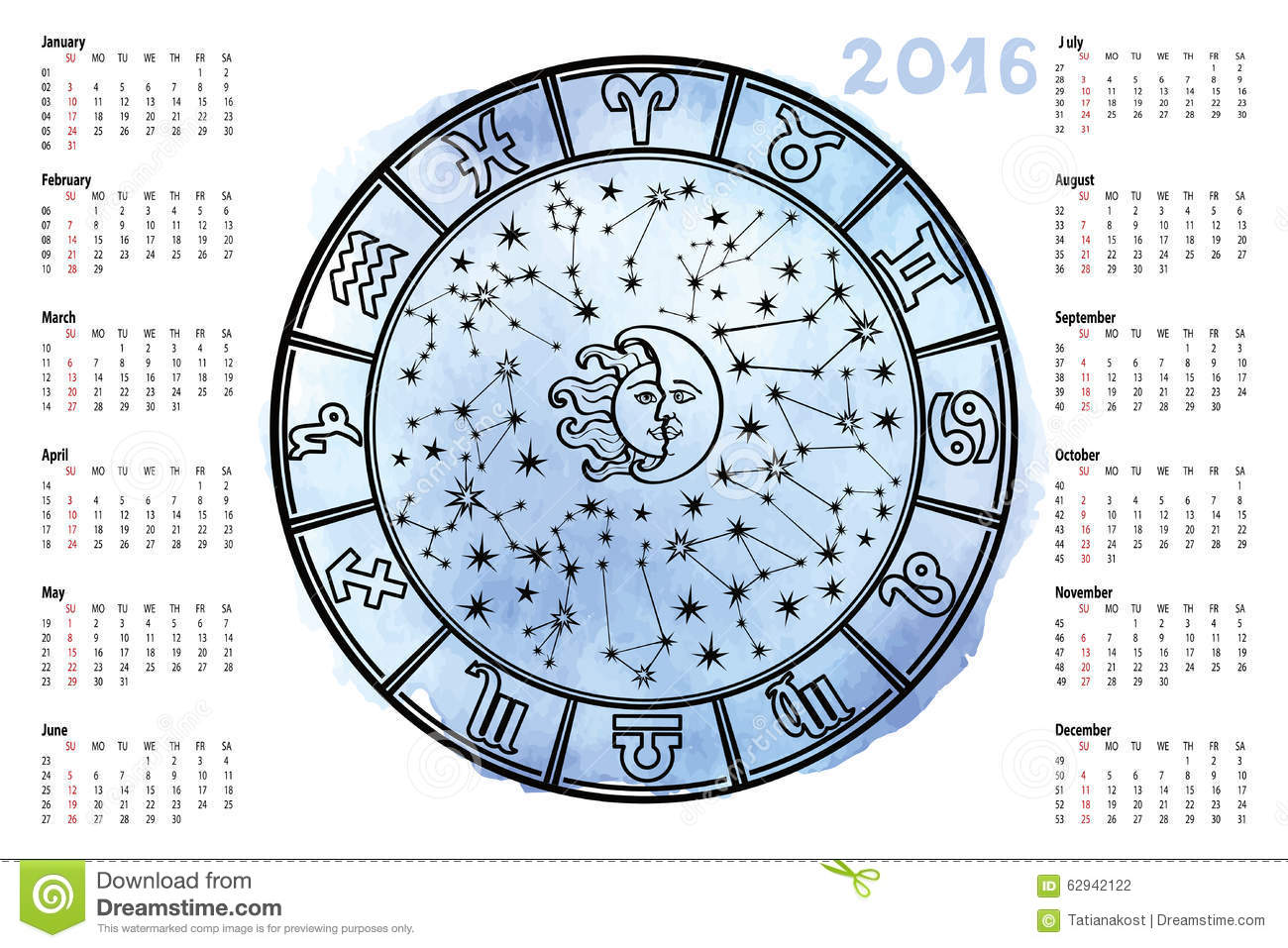 Zodiac signhoroscope circle2016 year stock vector illustration zodiac signhoroscope circle2016 year geenschuldenfo Image collections