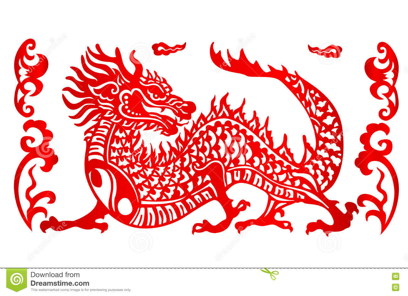 zodiac sign for year of dragon stock vector illustration of decor food 80778844. Black Bedroom Furniture Sets. Home Design Ideas