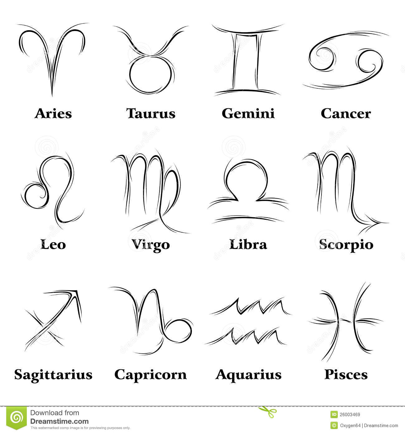 Zodiac Signs Royalty Free Stock Images  Image 26003469
