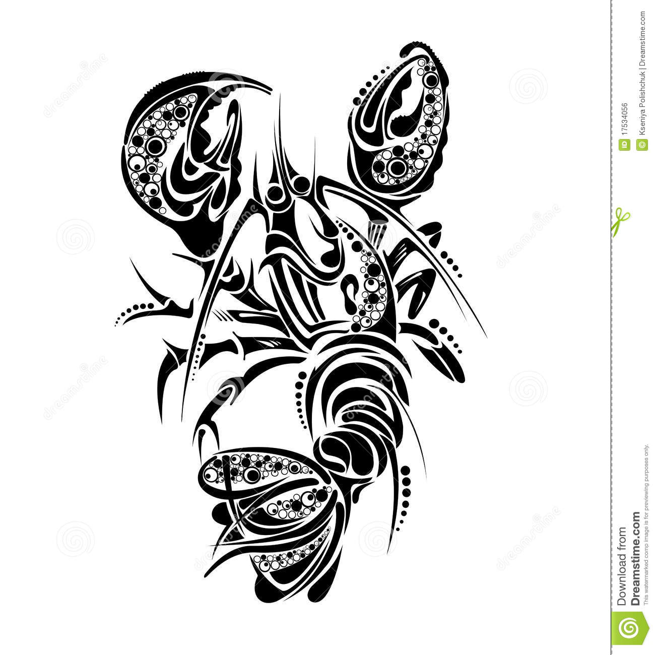 Zodiac signs cancer tattoo design stock vector for Tattoo horoscope signs