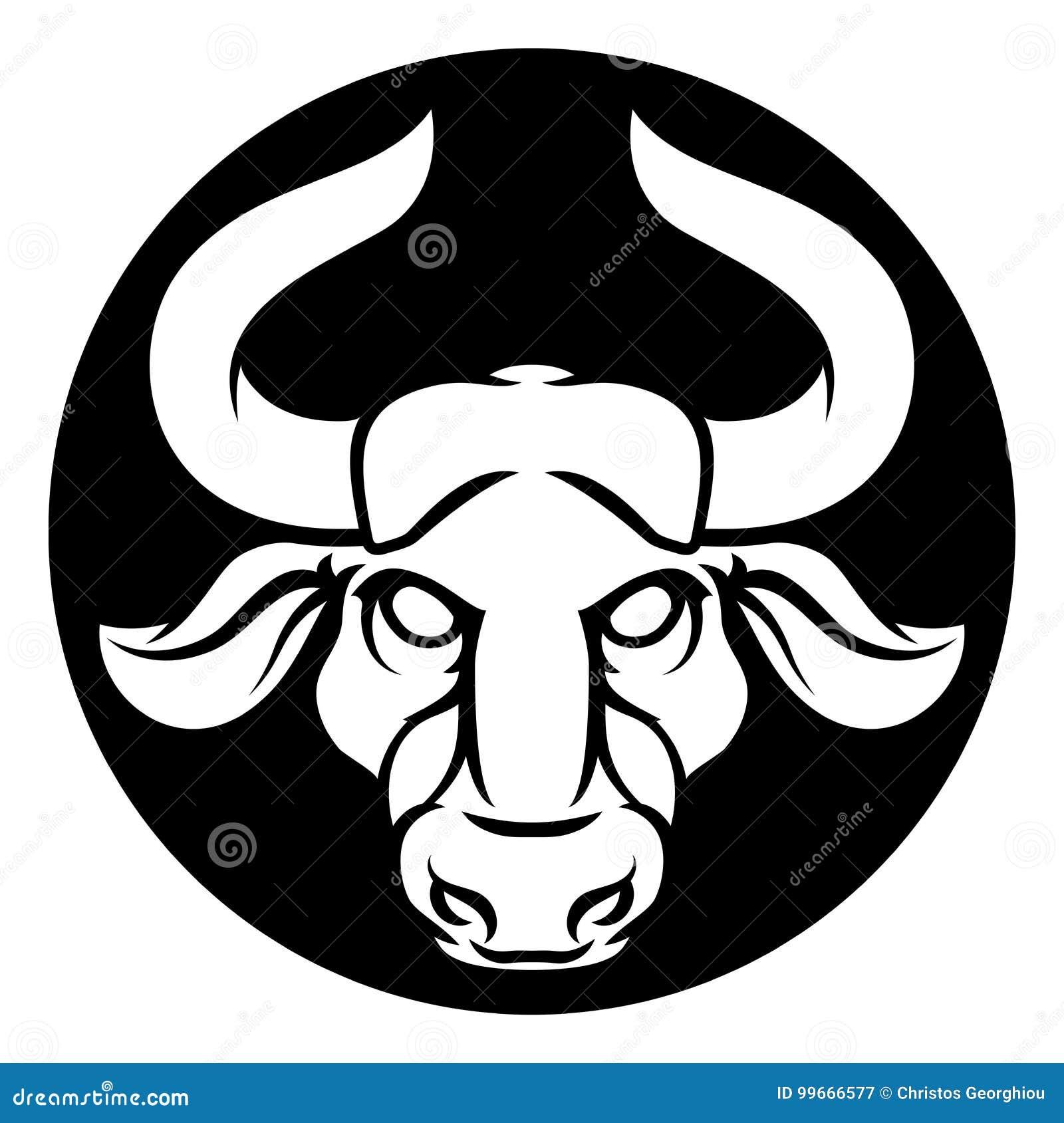 Taurus Bull Zodiac Astrology Sign Stock Vector Illustration Of