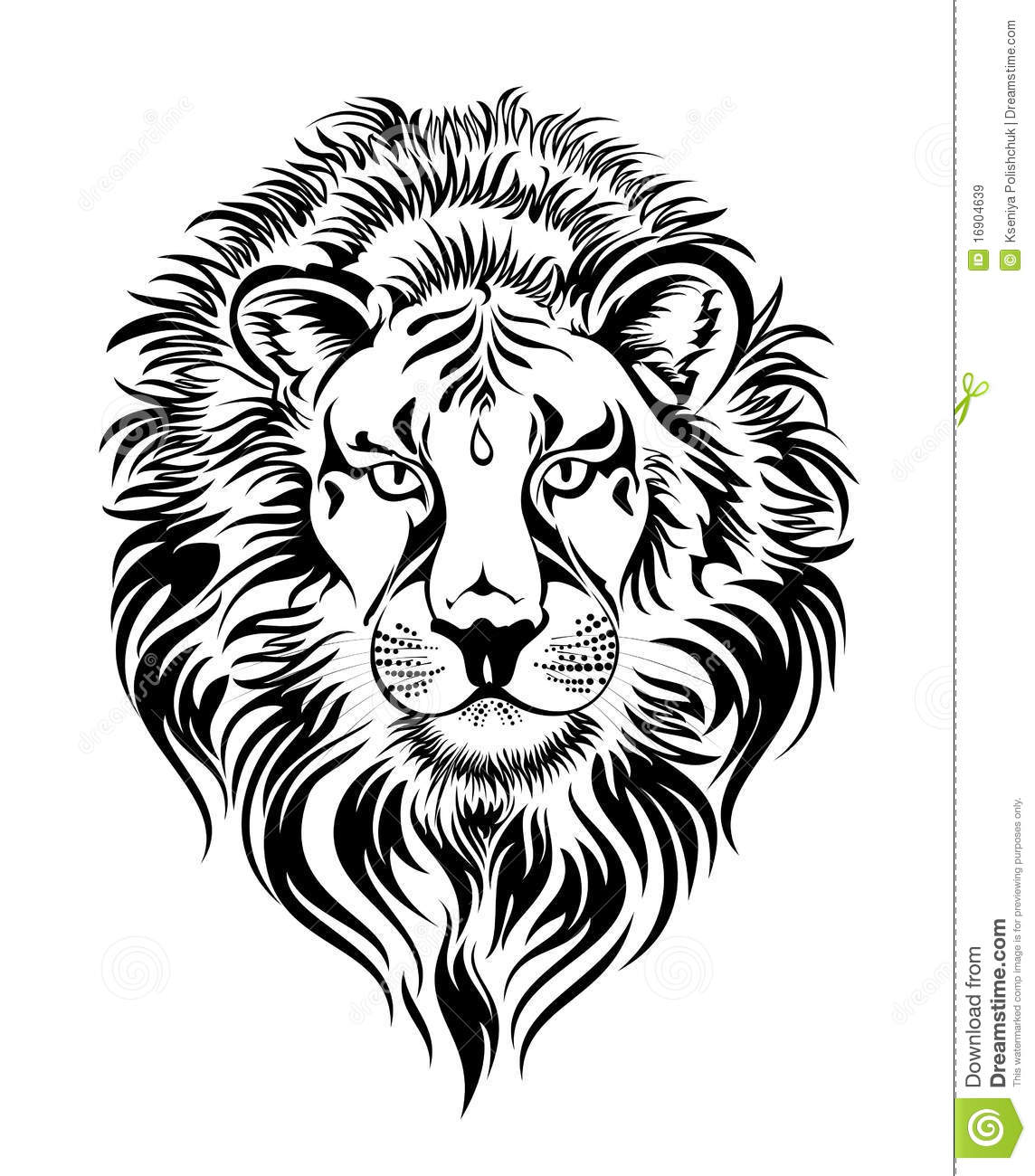 Leo.Tattoo Design Stock Vector