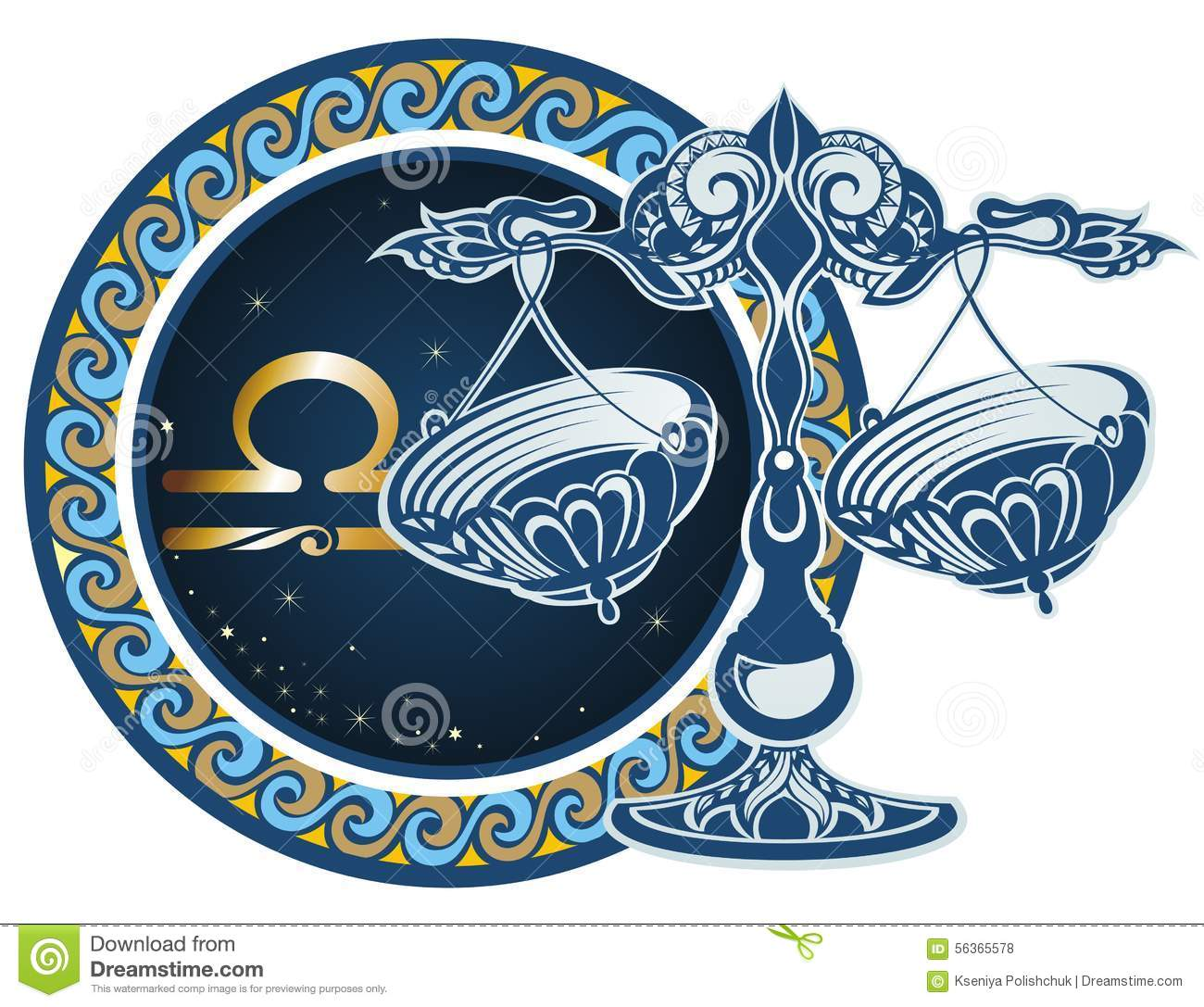 Zodiac Signs Libra Stock Vector Illustration Of Illustration