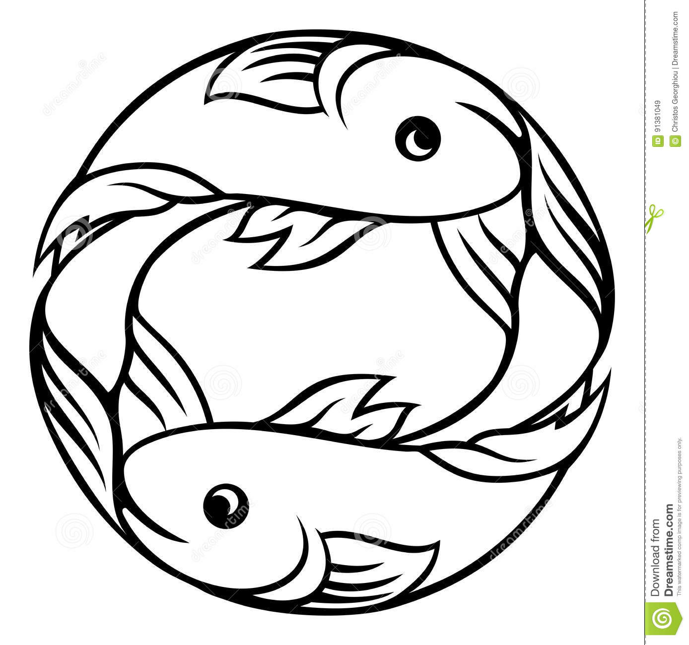 Zodiac signs pisces fish stock vector illustration of astrology zodiac signs pisces fish biocorpaavc Images