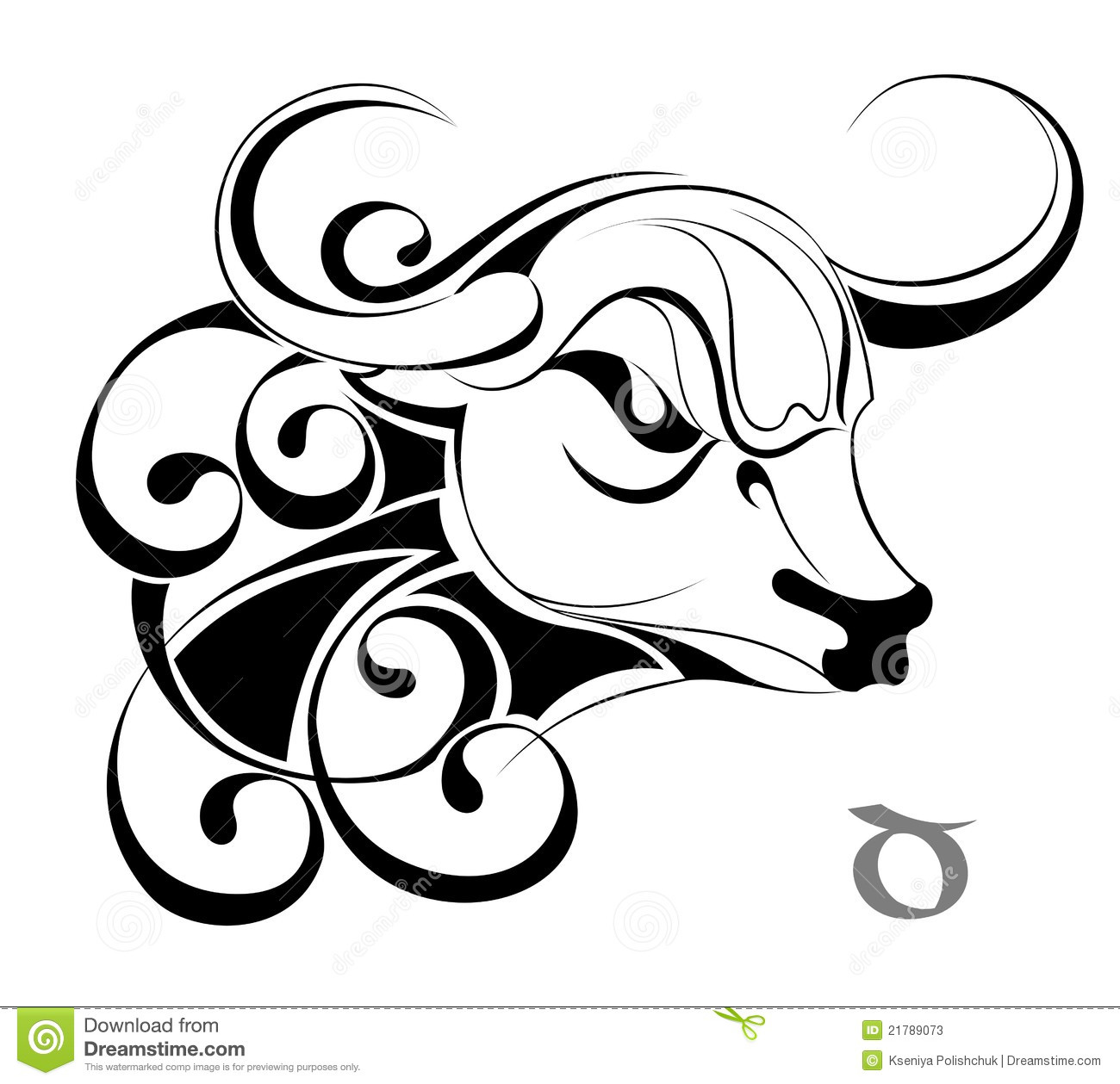 Zodiac Signs  TaurusTattoo Design Stock Photos Image 21789073