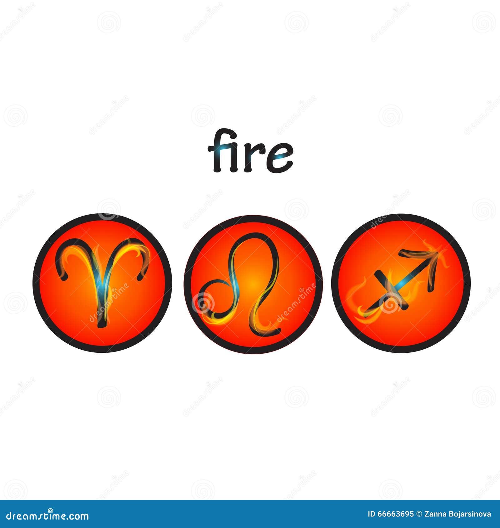 Zodiac symbols fire element stock vector illustration of aries zodiac symbols fire element biocorpaavc