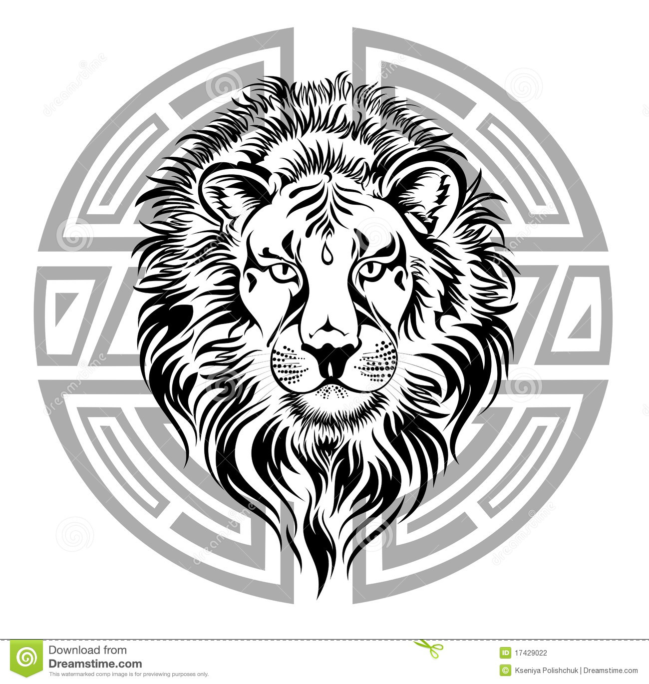 Zodiac Wheel With Sign Of Leo Stock Vector Illustration Of Graphic Ornament 17429022