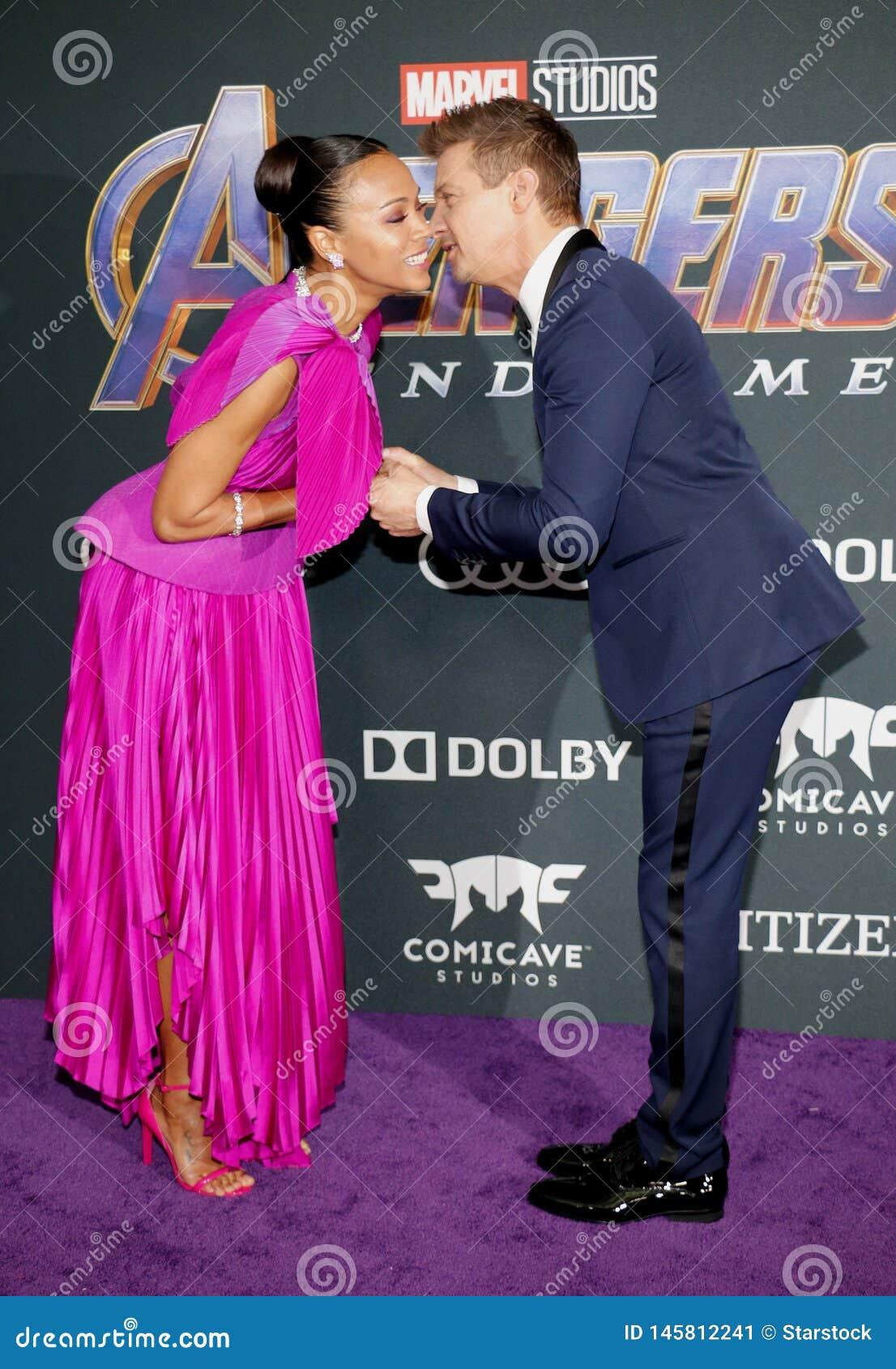 Zoe Saldana i Jeremy Renner