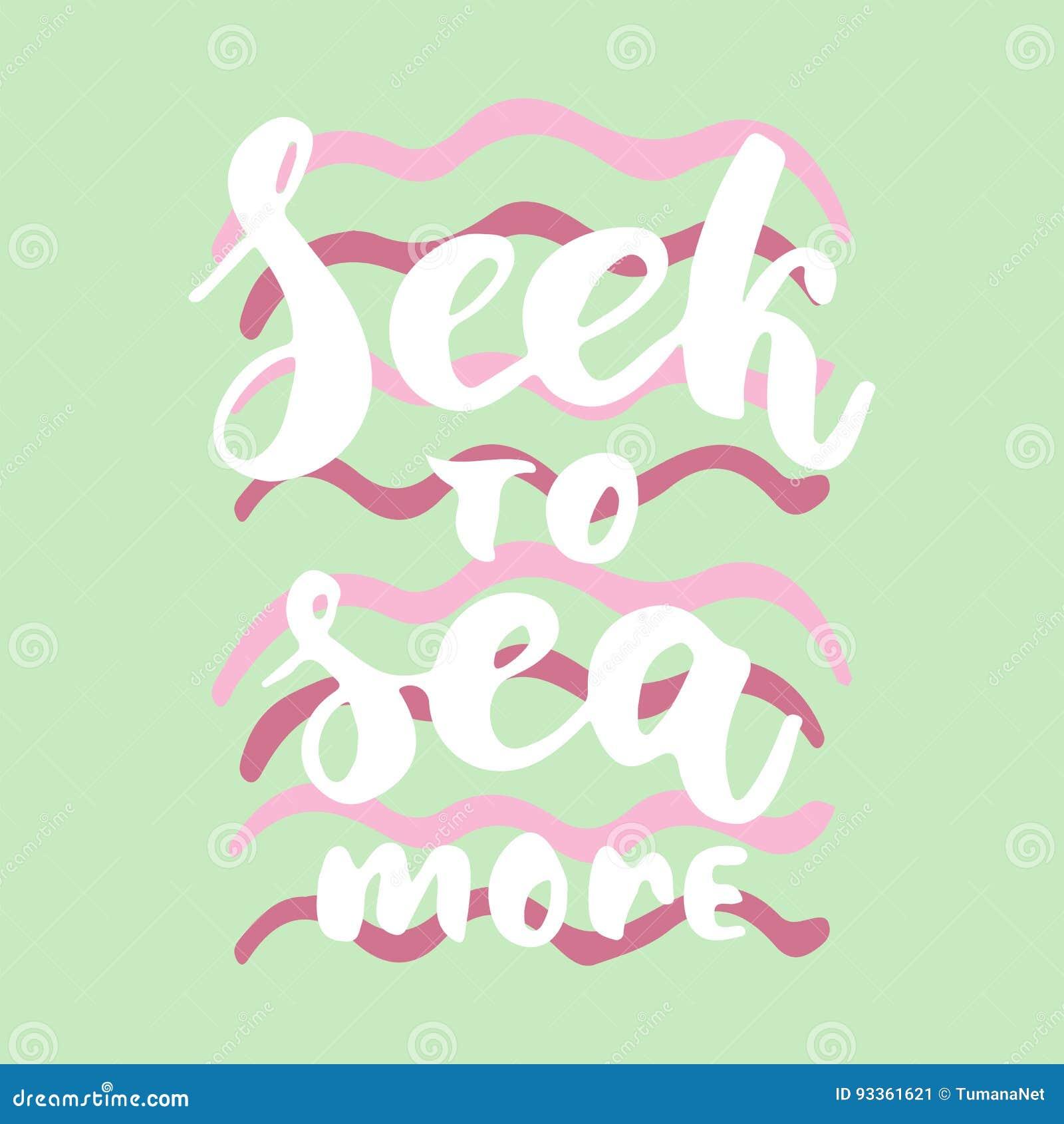 Zoek meer aan overzees - de hand getrokken het van letters voorzien inschrijving van de de borstelinkt van de citaat kleurrijke p